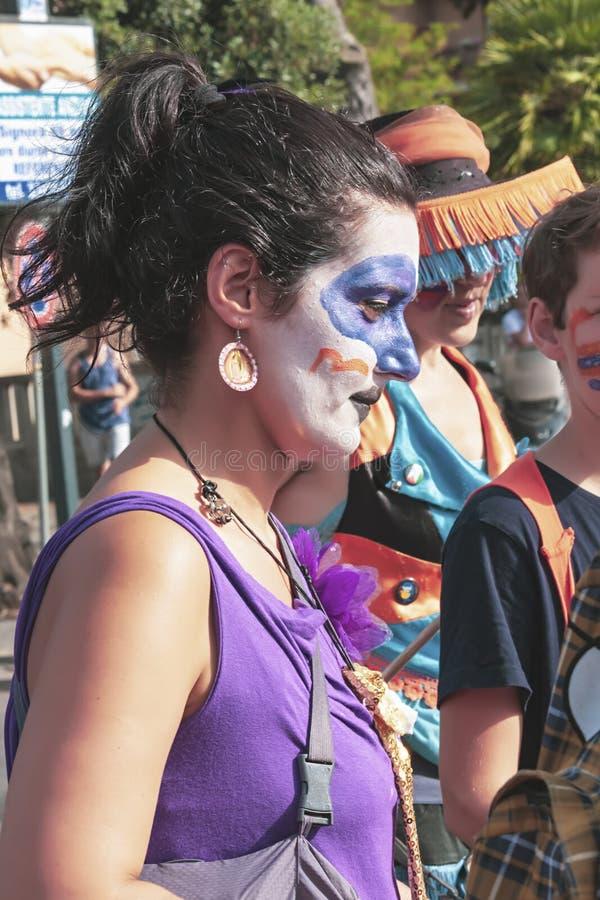 Partecipate da menina no orgulho de lazio em Roma imagens de stock royalty free
