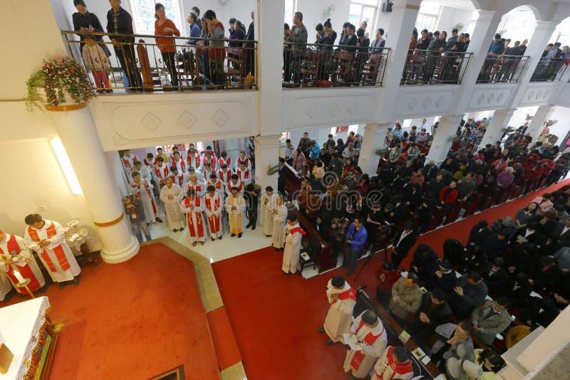 Partecipazione della chiesa dei credenti fotografie stock