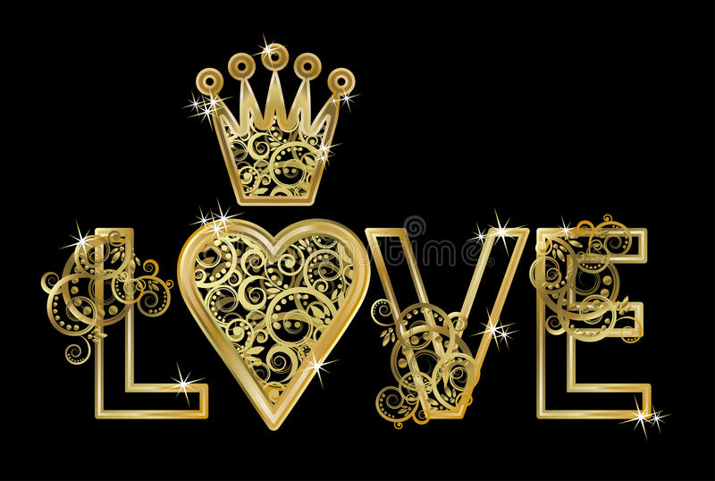 Partecipazione di nozze di amore, vettore royalty illustrazione gratis