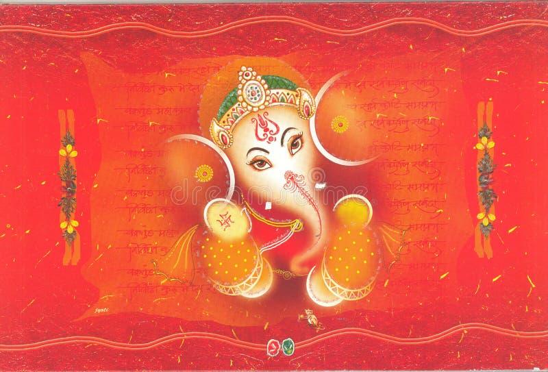 partecipazione di nozze indiana illustrazione vettoriale