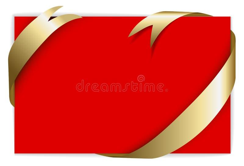 Partecipazione di nozze o di natale illustrazione di stock