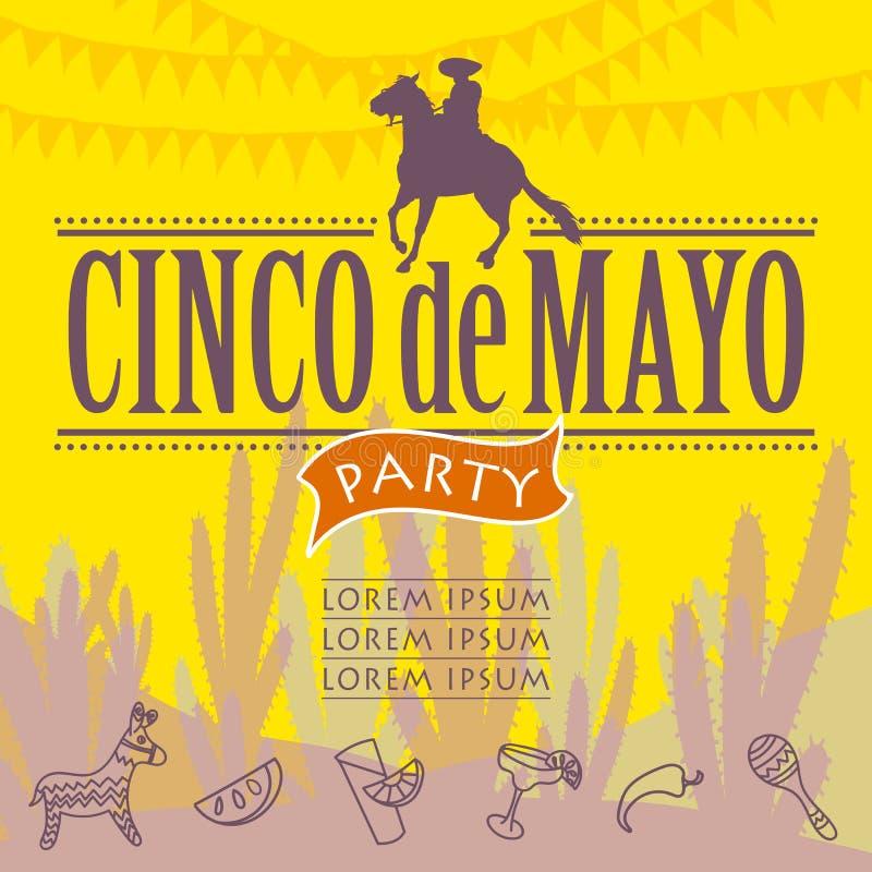 Partei Cinco Des Mayo stock abbildung