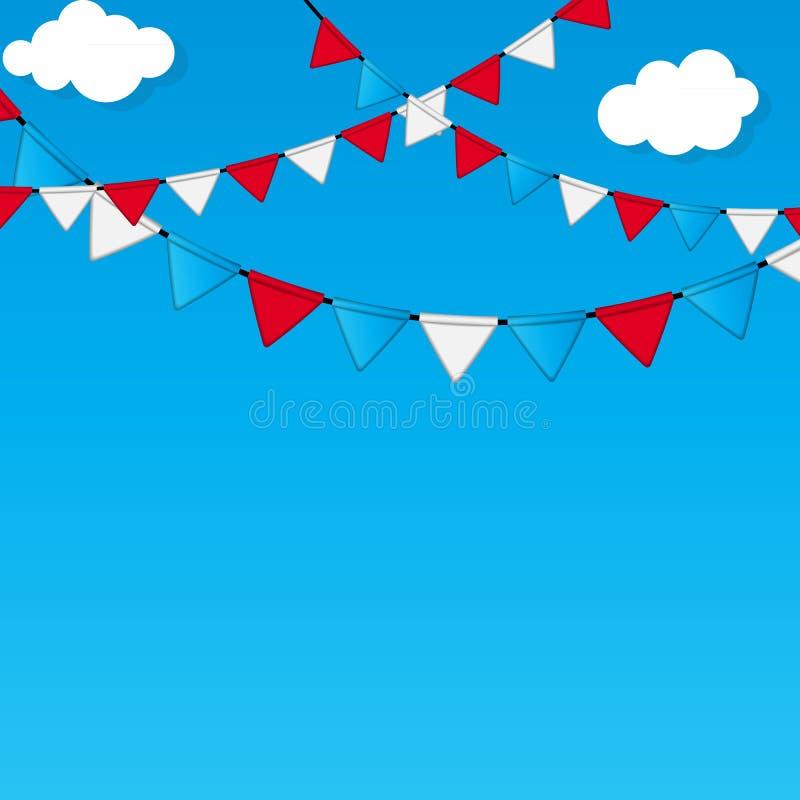 Partei-Flaggen-Hintergrund-Vektor-Illustration lizenzfreie abbildung