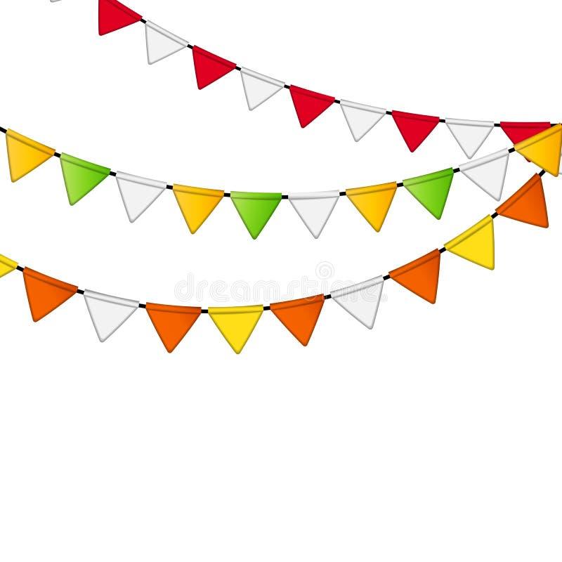 Partei-Flaggen-Hintergrund-Vektor-Illustration stock abbildung