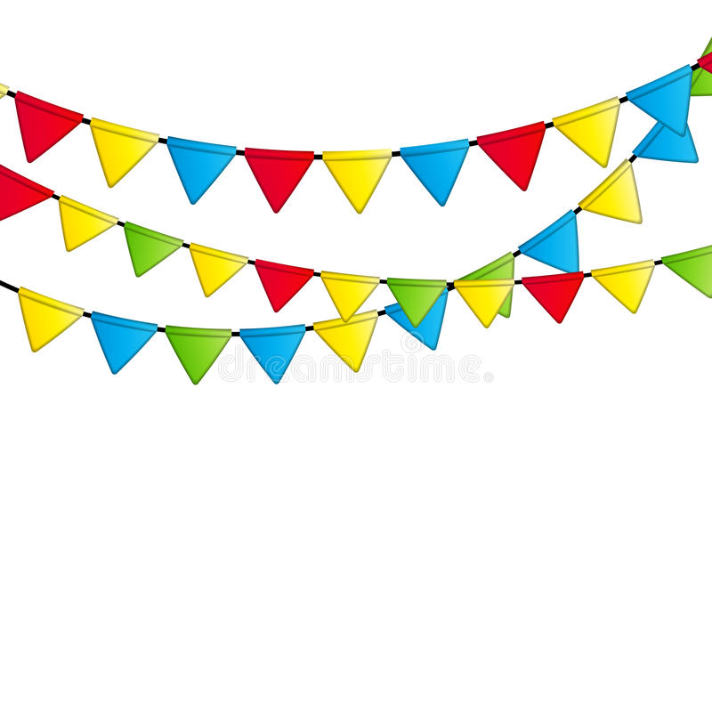 Partei-Flaggen-Hintergrund-Vektor-Illustration ENV 10 stock abbildung