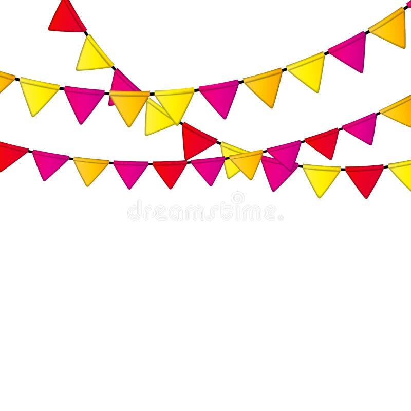 Partei-Flaggen-Hintergrund-Vektor-Illustration ENV 10 vektor abbildung