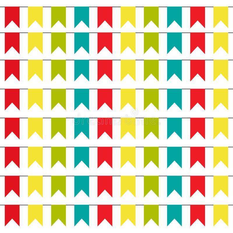 Partei-Hintergrund mit bunter Flaggen-Vektor-Illustration ENV 10 stock abbildung