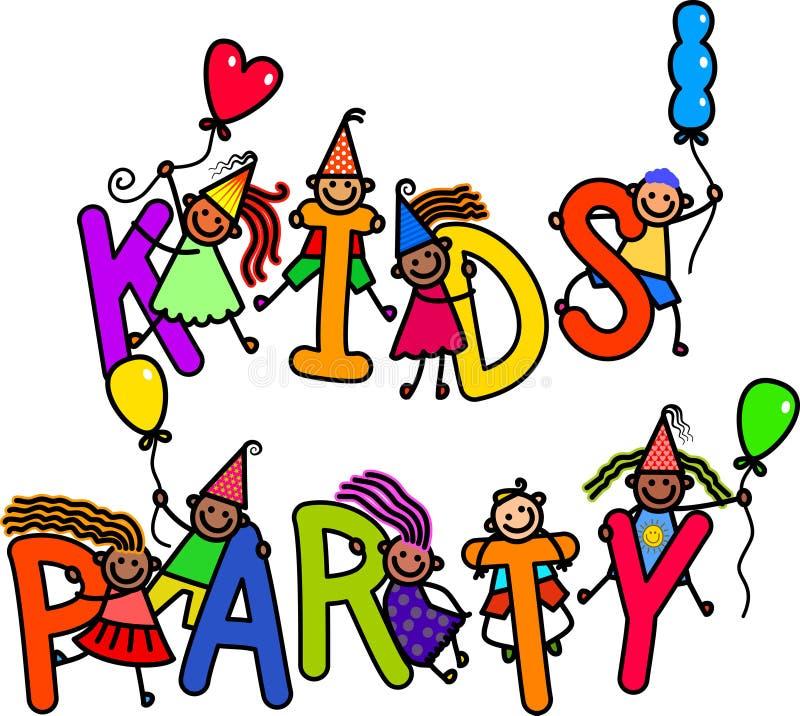 Partei-Kinder lizenzfreie abbildung