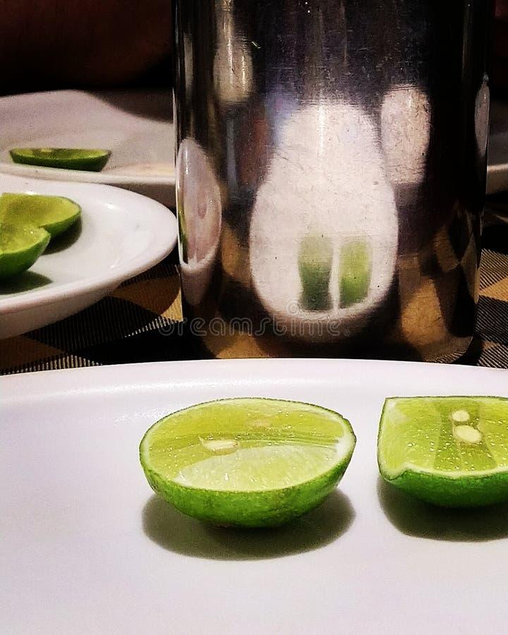 Partei mit Zitrone stockfoto