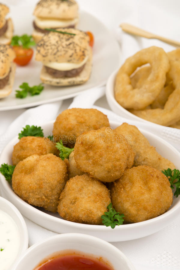 Partei-Nahrung stockfotografie