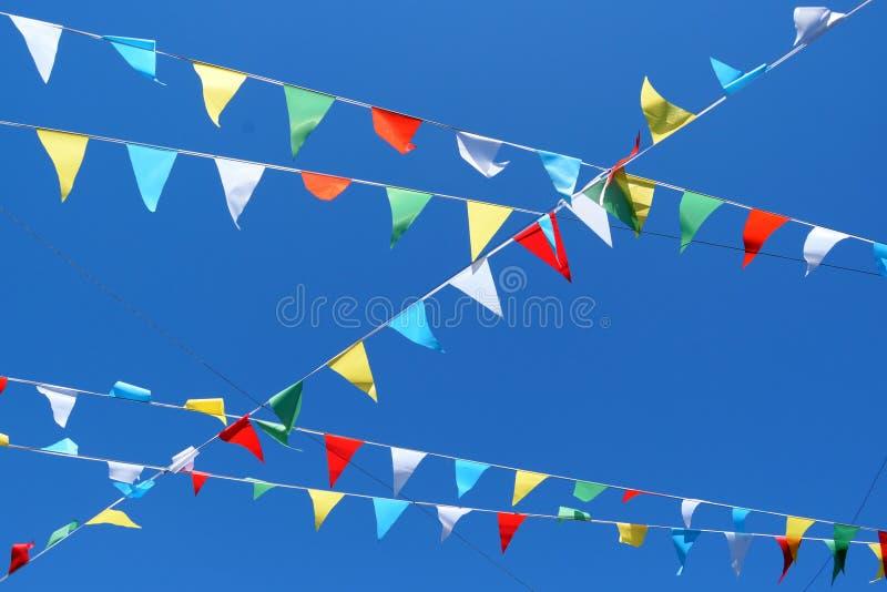 Parteiflaggen stockfotografie