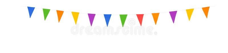 Parteiflaggen XL lokalisierten auf einem weißen Hintergrund lizenzfreie stockfotos