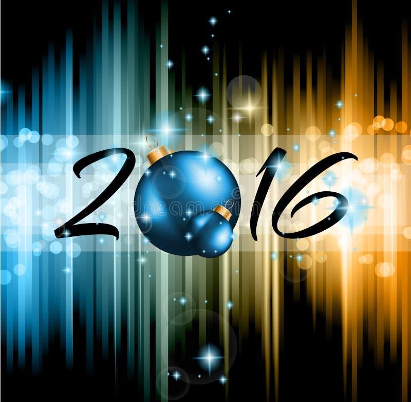 Parteiflieger des Weihnachten-2016 und guten Rutsch ins Neue Jahr- lizenzfreie abbildung