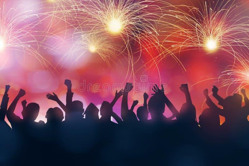 Parteileute feiern Sylvesterabend lizenzfreies stockfoto
