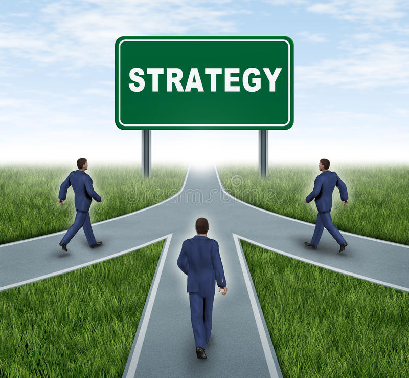 Partenariat stratégique illustration stock