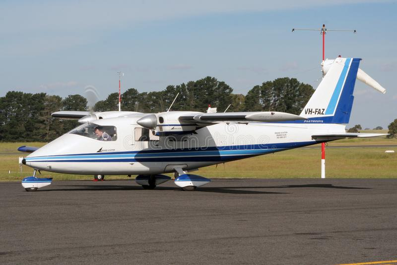 Partenavia飞机澳大利亚 免版税库存图片