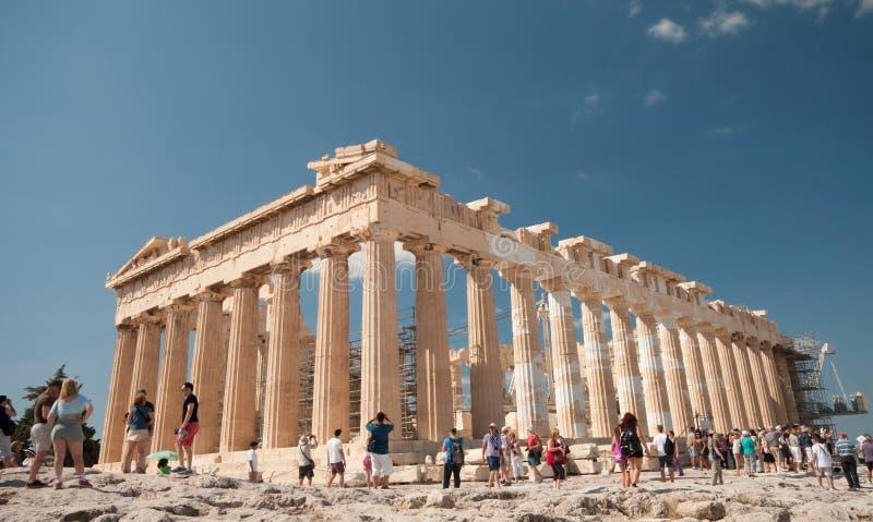 Partenon de Atenas, monte da acrópole foto de stock