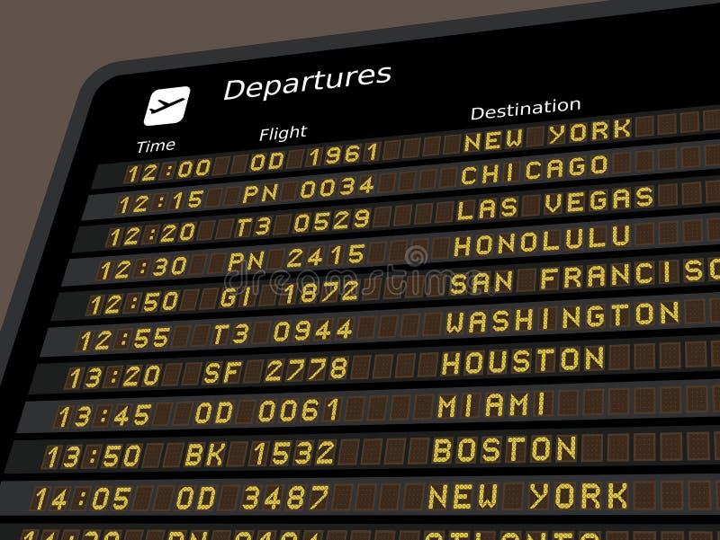 Partenze dell'aeroporto illustrazione di stock
