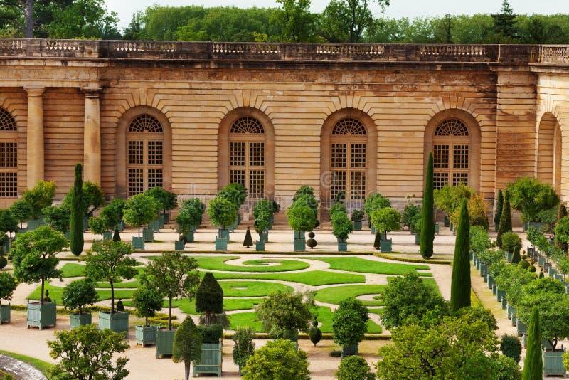 Parterre d'Orangerie dans le jardin de Versailles, France images stock