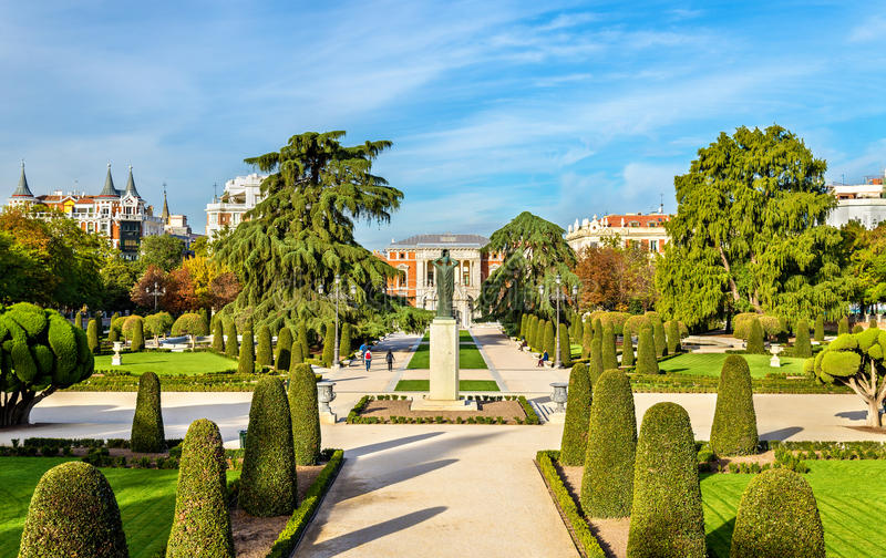 Parterre garden in Buen Retiro Park - Madrid, Spain royalty free stock photography