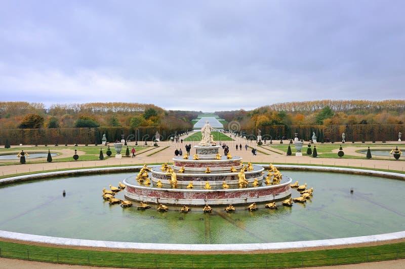 Parterre pałac Versailles Château de Versailles w Paryż i zdjęcie royalty free