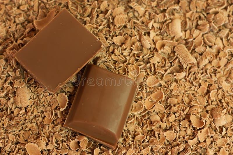 Partes & aparas do chocolate foto de stock royalty free