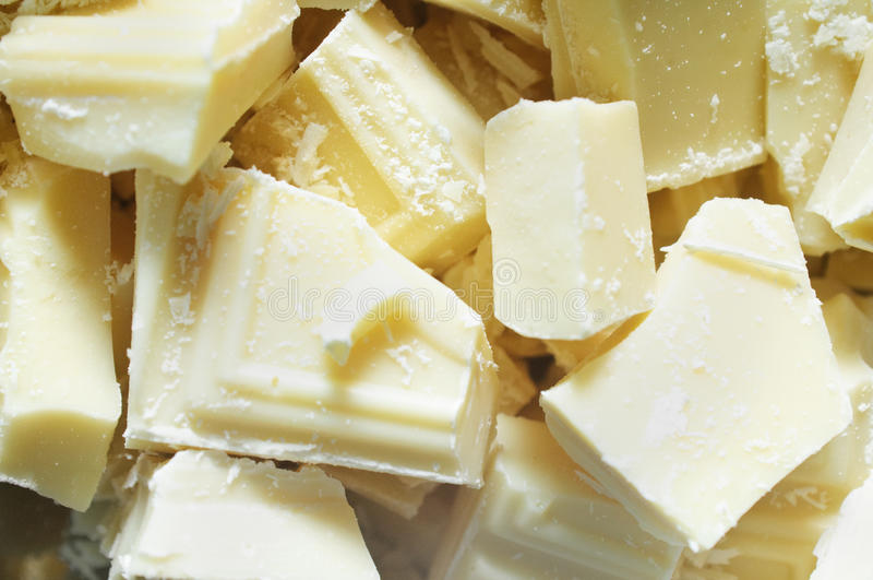 Partes brancas do chocolate fotos de stock royalty free