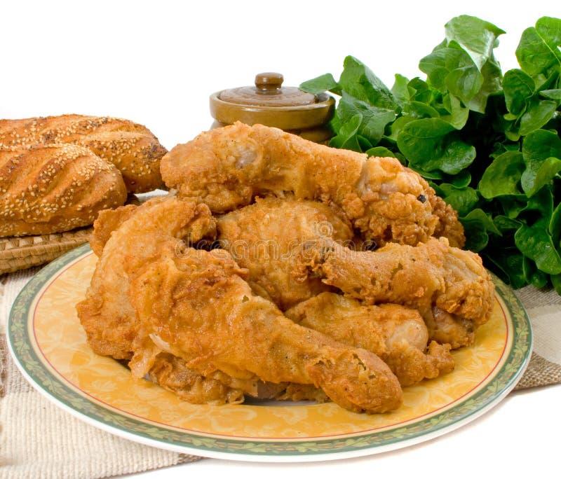 Partes da galinha fritada foto de stock royalty free