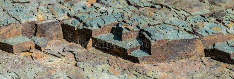 Partes da rocha Textura larga do fundo foto de stock