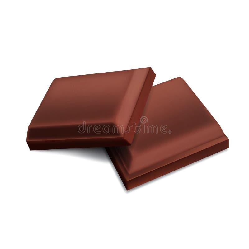 Partes de chocolate ilustração royalty free