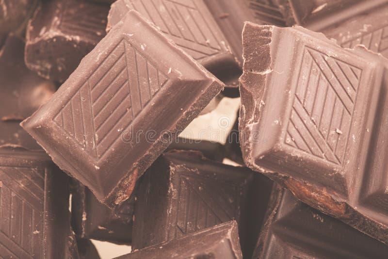 Partes de chocolate de leite foto de stock royalty free