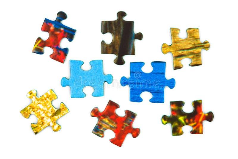 Partes de enigma imagem de stock royalty free