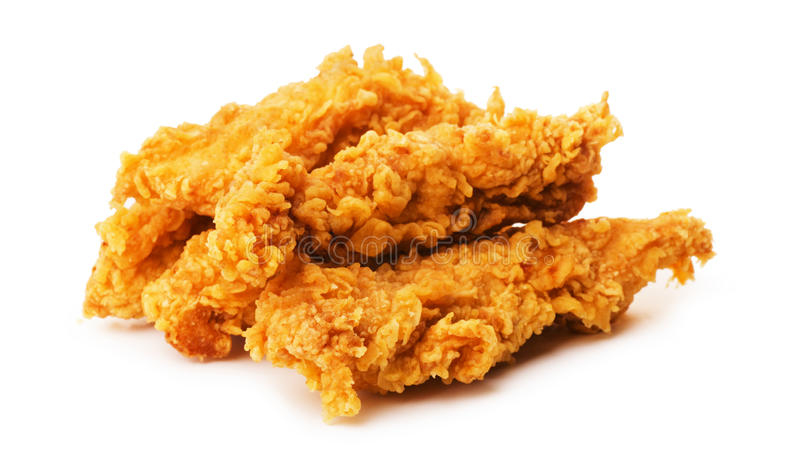 Partes de frango frito panado friável fotos de stock