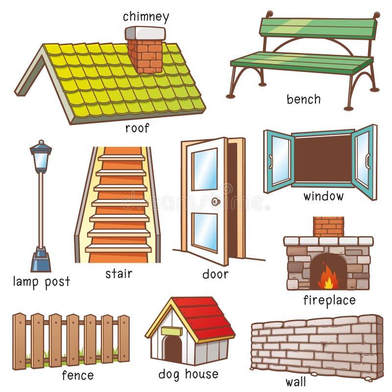Partes de la casa stock de ilustración