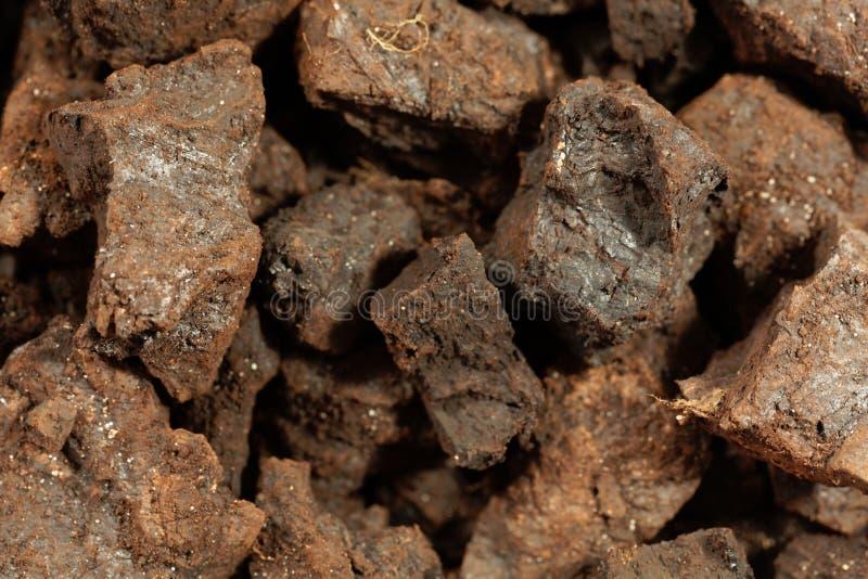 Partes de lignite ou de carvão marrom fotos de stock