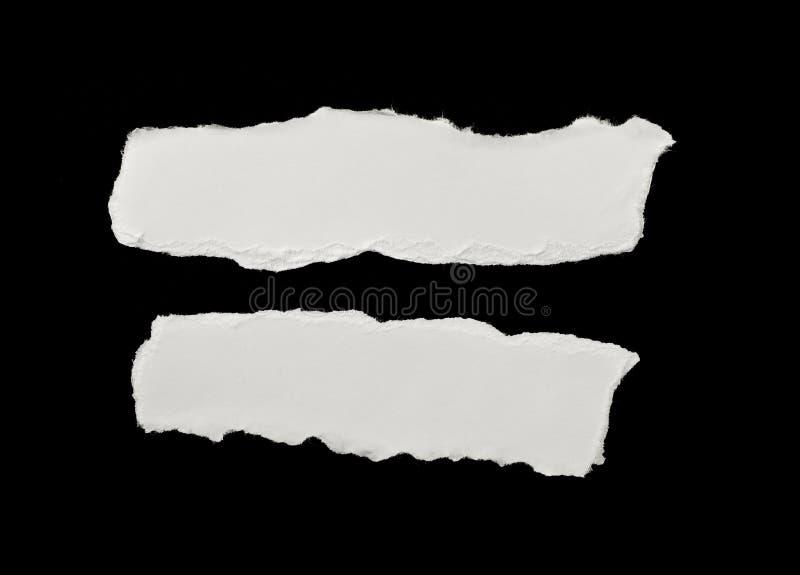 Partes de Livro Branco rasgado fotos de stock