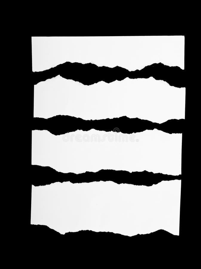 Partes de Livro Branco rasgado imagens de stock royalty free