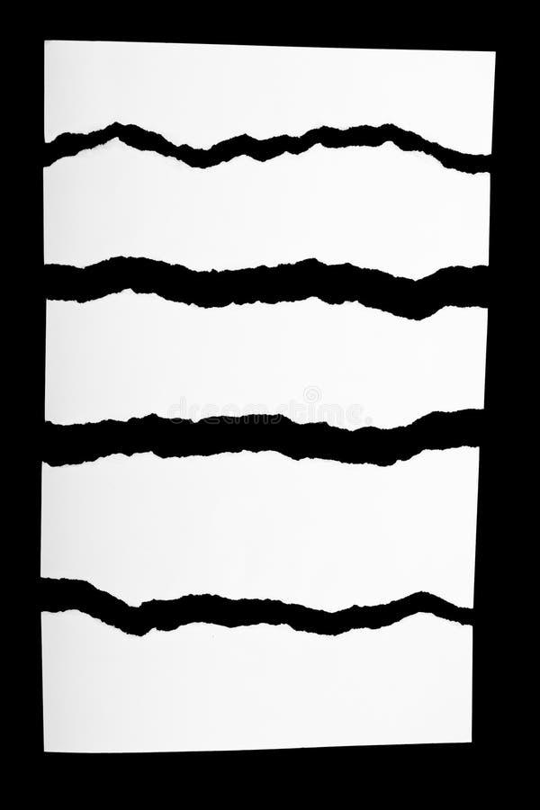 Partes de Livro Branco rasgado imagem de stock