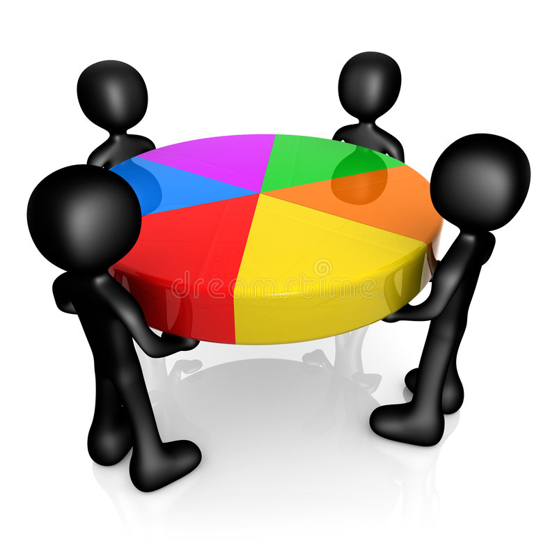Partes de mercado ilustração stock