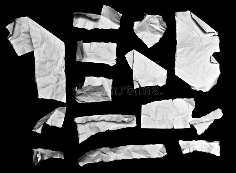 Partes de papel dobradas da nota fotografia de stock royalty free