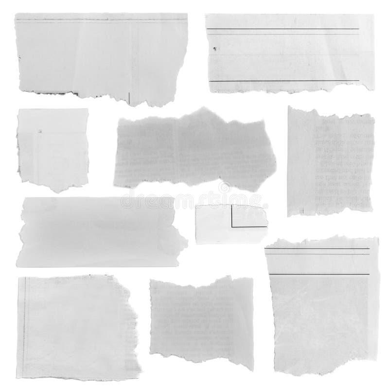 Partes de papel rasgadas fotografia de stock royalty free