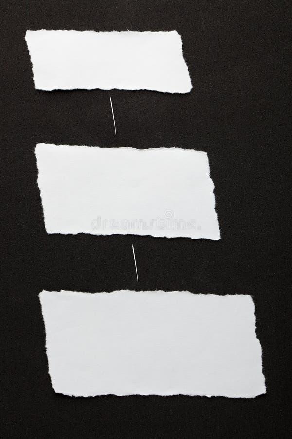 Partes de papel rasgadas imagens de stock royalty free