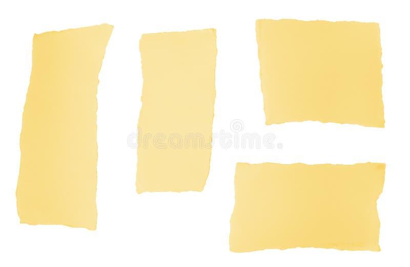 Partes de papel rasgadas do projeto fotos de stock