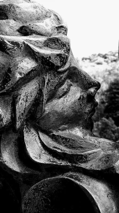 Partes de uma escultura no vale da disposição foto de stock