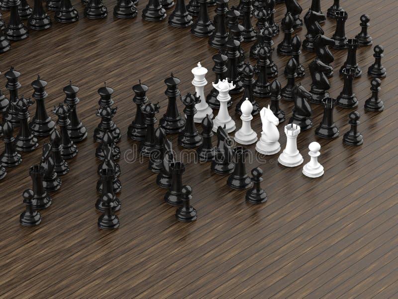 Partes de xadrez - brancas dentro das partes pretas ilustração royalty free