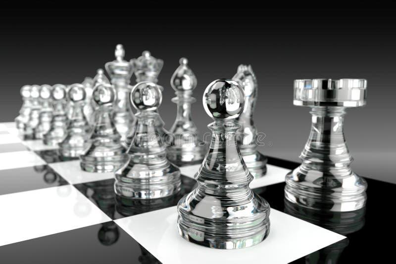 Partes de xadrez de vidro ilustração do vetor