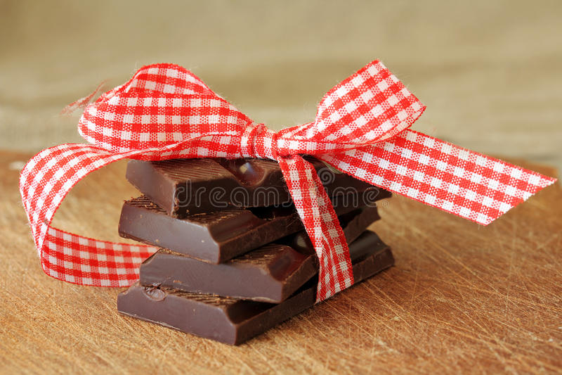 Partes do chocolate fotos de stock royalty free