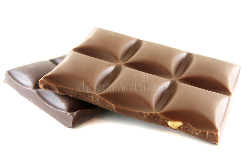 Partes do chocolate imagem de stock