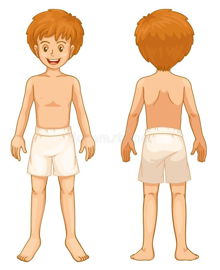 Partes do corpo do menino ilustração stock