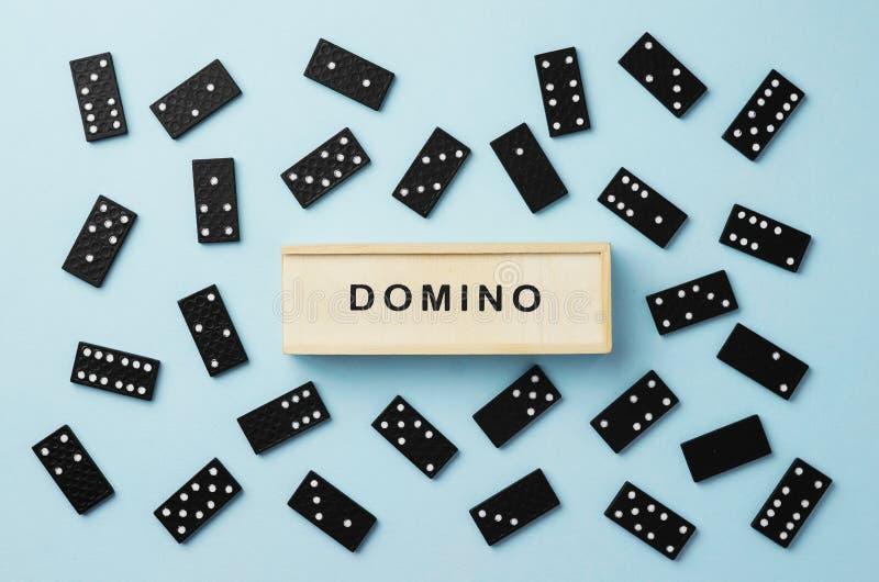 Partes do dominó foto de stock